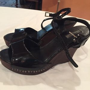 Prada Black Sandals Size 38 1/2